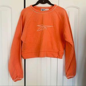 Vintage | Reebok Cropped Orange Sweatshirt Size M